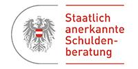 """Bildlink Logo mit Aufschrift """"Staatlich anerkannte Schuldnerberatung"""""""
