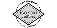 Bildlink Logo der ISO 9001 Zertifizierung