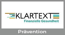 Button mit Verlinkung zur Website Klartext mit der Unterseite Prävention (Externer Link)